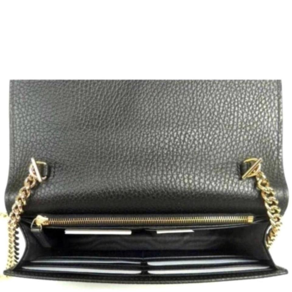 310b71801793 Gucci Chain Wallet Icon Gg Black Leather Cross Body Bag - Tradesy