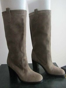 Ralph Lauren Lauren Devona Womens Suede Leather Fashion Gray Boots