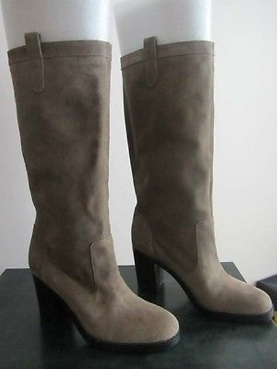 Ralph Lauren Devona Womens Suede Leather Fashion Gray Boots