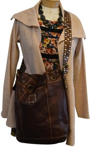 Campomaggi Leather Leather Mixed Metals Hobo Bag