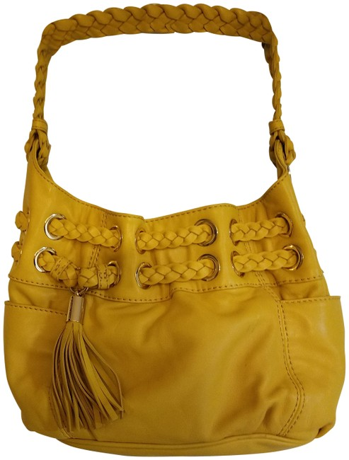 Item - Drawstring Yellow Leather Shoulder Bag