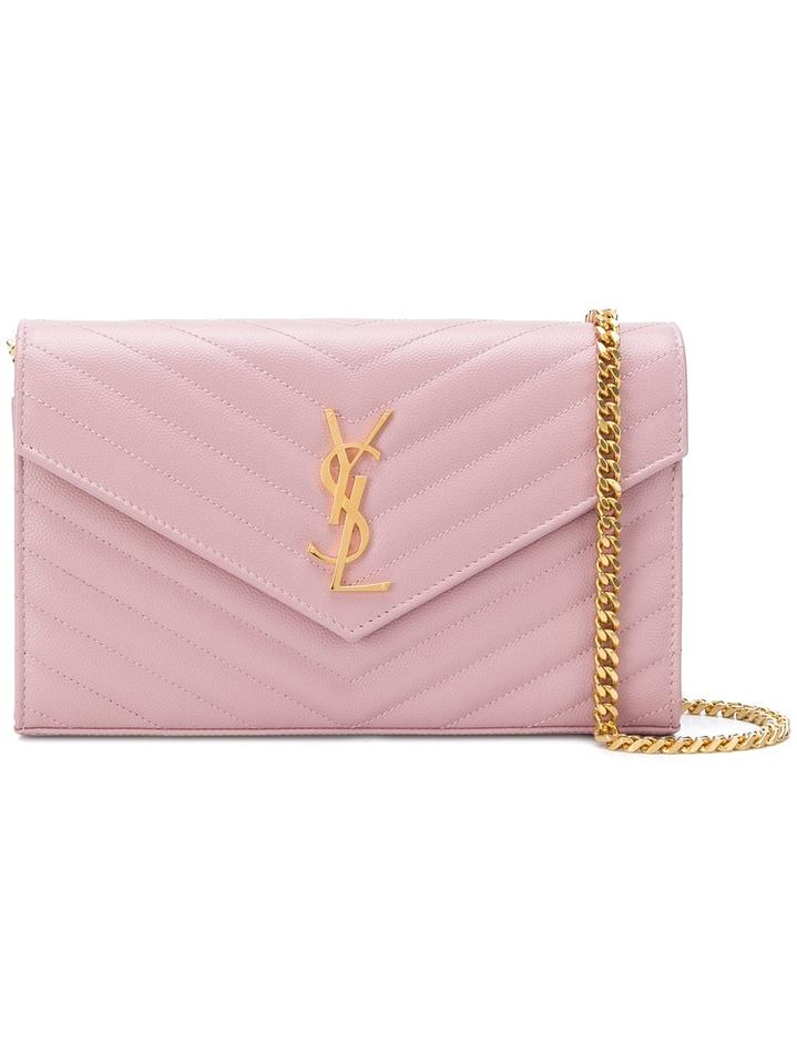 5652024f629 Saint Laurent Envelope Chain Wallet Bnwt Gold Hardware Monogram ...