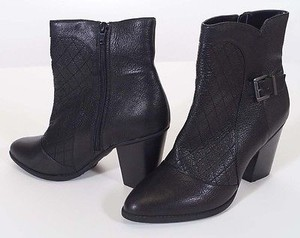 Me Too Charis Womens Leather Heels Ankle 10m Black Boots