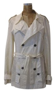 a8d685548e43 Chanel White Perforated Cropped Trench Coat Size OS (one size) - Tradesy