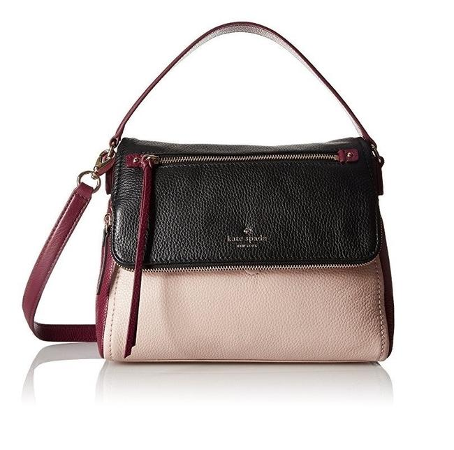 Kate Spade New York Cobble Hill Small Toddy Pressed Powder/Merlot /Black Leather Shoulder Bag Kate Spade New York Cobble Hill Small Toddy Pressed Powder/Merlot /Black Leather Shoulder Bag Image 1