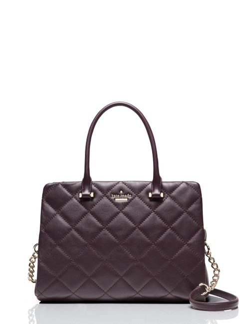 Kate Spade Emerson Place Olivera Quilted Leathersatchel Mahogany Leather Satchel Kate Spade Emerson Place Olivera Quilted Leathersatchel Mahogany Leather Satchel Image 1