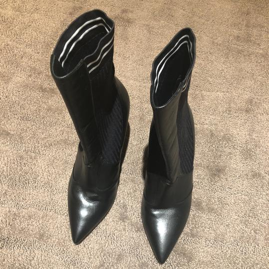 Fendi Classic Sexy Pointy Black Boots Image 2