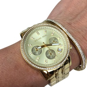 Michael Kors Michael Kors gold ritz runway chronograph watch