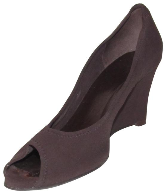 Item - Brown Micro-fiber and Leather Shoes/Designer Wedges Size US 8.5 Regular (M, B)