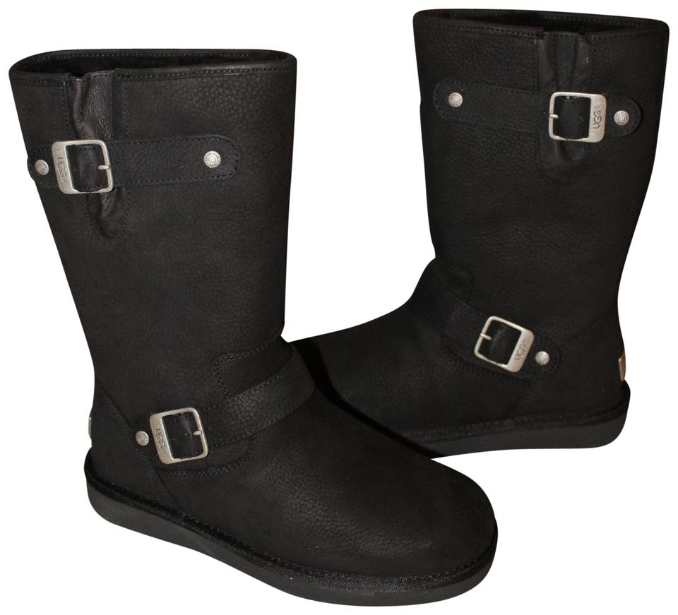 905fa03bb19 UGG Australia Black Sutter Water Resistant Shearling Leather Boots/Booties  Size US 10 Regular (M, B) 19% off retail