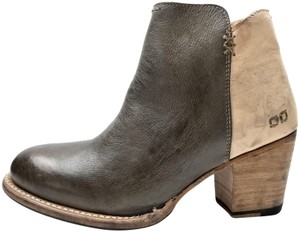 Bed|Stü Lightly Distressed Western-inspired Side Zip Made In Mexico Taupe/Bone Rustic Boots