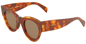 Céline Celine Petra Brown Round Sunglasses CL41447S 8670 48