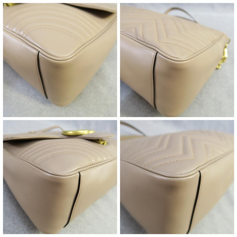 74016368800d Gucci Gg Marmont Matelasse Satchel in Nude color Image 11. 123456789101112