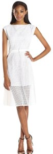 Theory Lace Overlay Crochet Cotton Career Dress