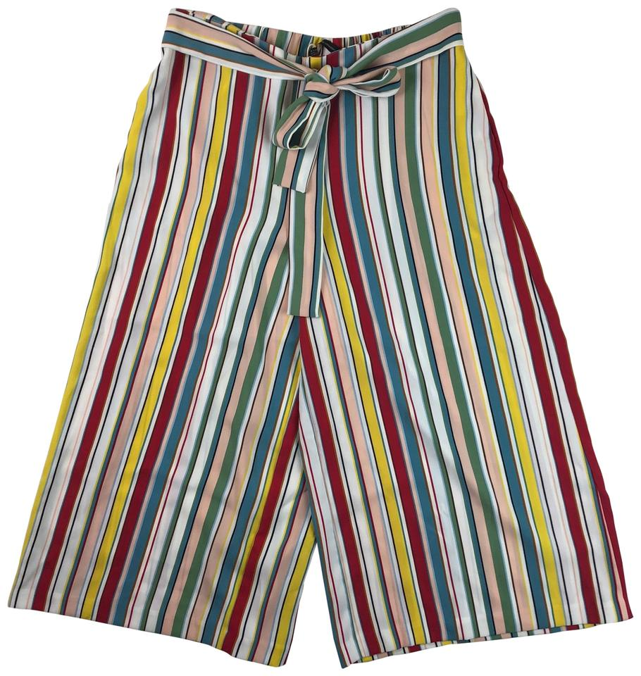 b882fe65 Zara Multicolor Striped Trousers Pants Size 12 (L, 32, 33) - Tradesy