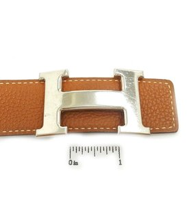 Hermès constance reversible belt kit h logo tan black 75