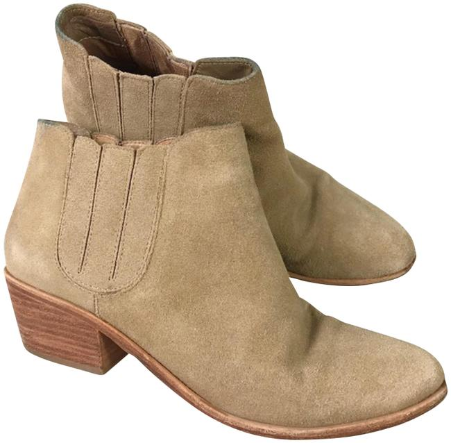 Joie Tan Women's Suede Block Heel Ankle Boots/Booties Size US 7.5 Regular (M, B) Joie Tan Women's Suede Block Heel Ankle Boots/Booties Size US 7.5 Regular (M, B) Image 1