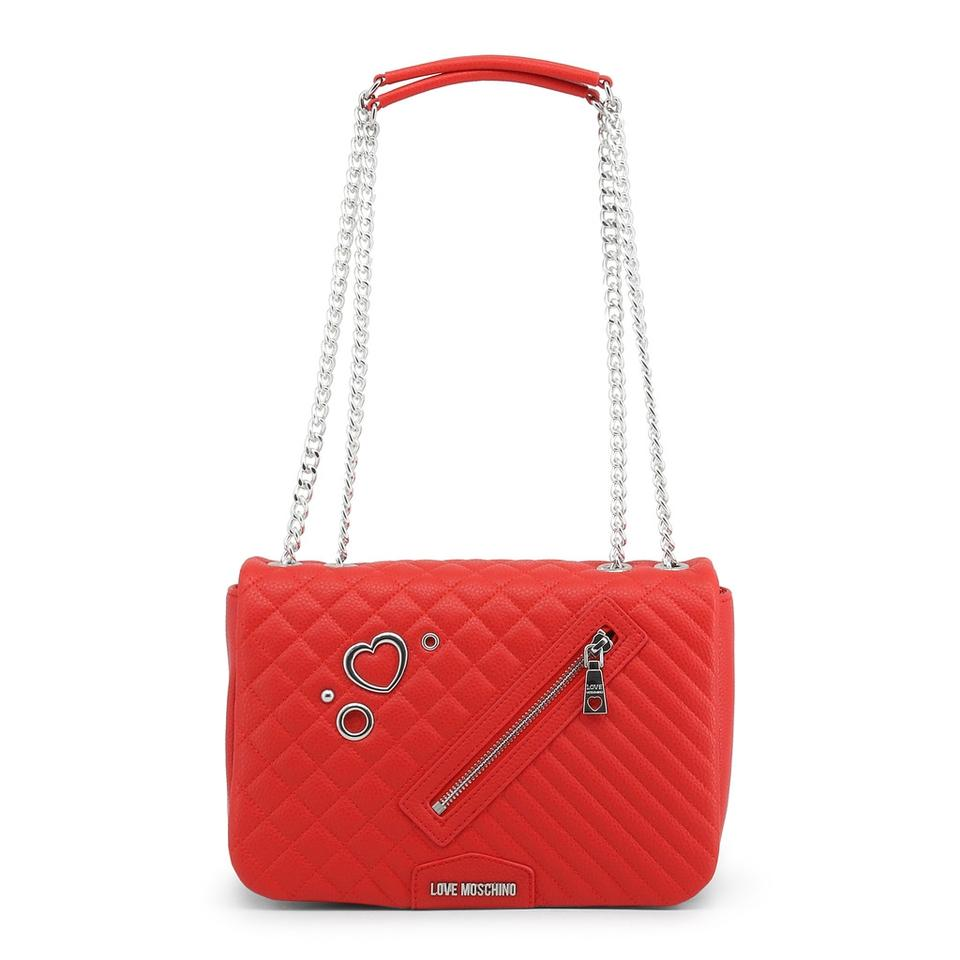 417d183fd4 Love Moschino Red Synthetic Leather Shoulder Bag - Tradesy