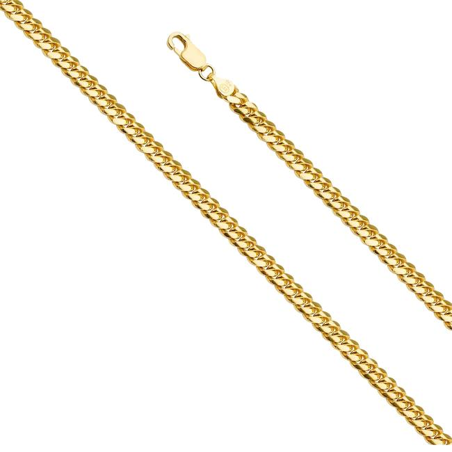 "Top Gold & Diamond Jewelry Yellow 14k 5.0 Mm Miami Cuban Link Chain 08"" Necklace Top Gold & Diamond Jewelry Yellow 14k 5.0 Mm Miami Cuban Link Chain 08"" Necklace Image 1"