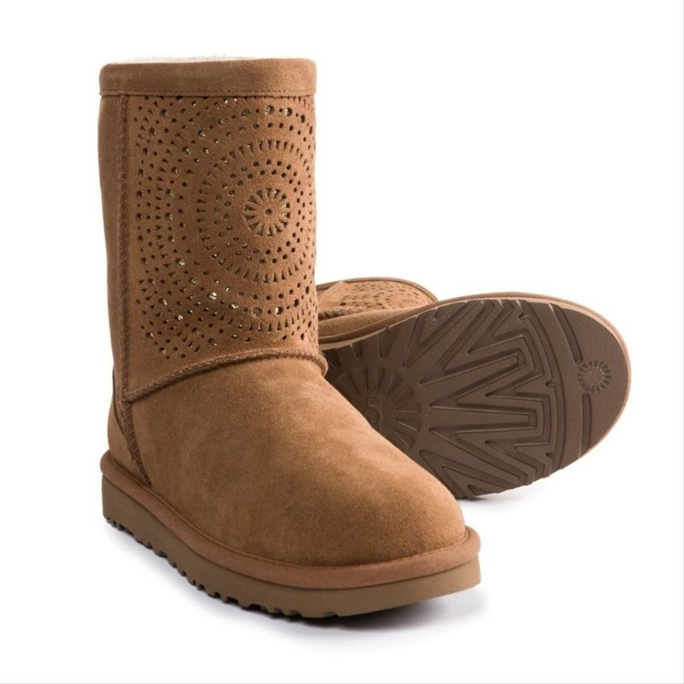 81a02518eb3 UGG Australia Chestnut Sunshine Classic Perforated Boots/Booties Size US 8  Regular (M, B) 50% off retail
