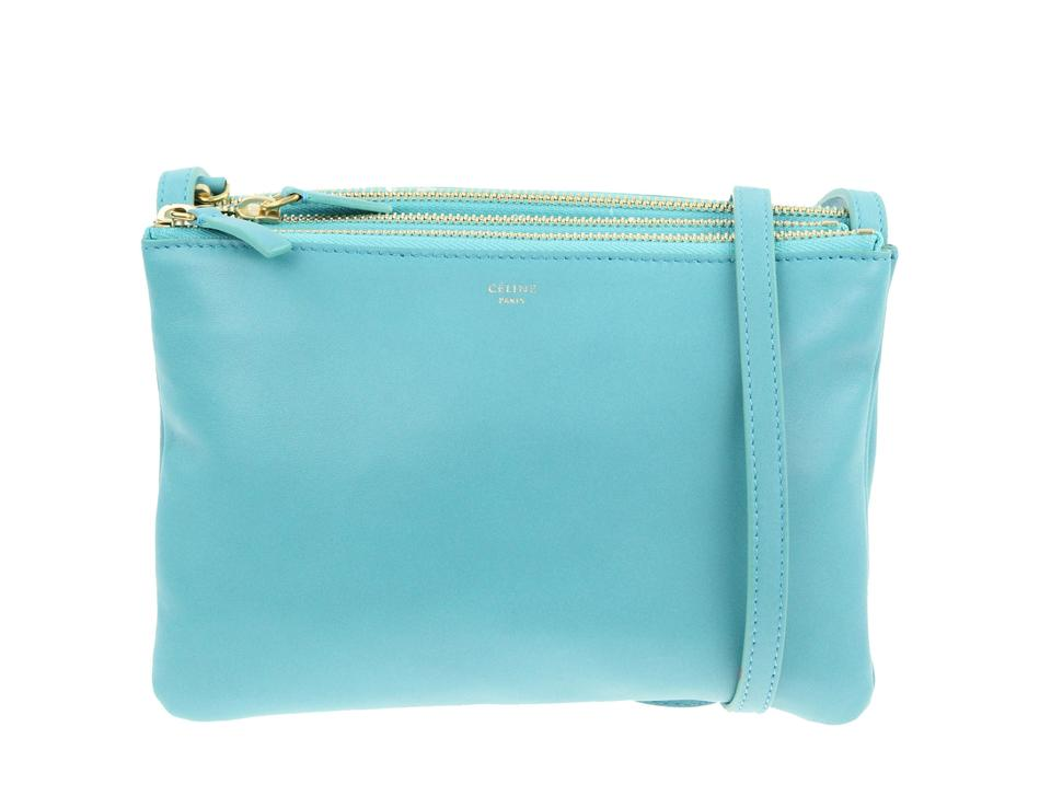 Céline Trio Small Teal Blue Calfskin Leather Shoulder Bag - Tradesy 3b55c0679f625