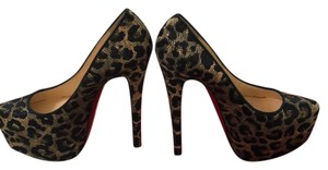 Christian Louboutin black tan Platforms