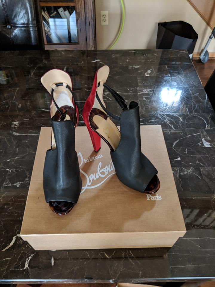 Boots Christian Toe Black Red and Louboutin Barbara Booties Peep qqC0USr