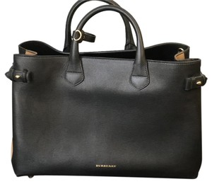 Burberry Satchel in black with logo sides