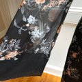 Jodifl Black Floral Wrap In S Long Night Out Dress Size 4 (S) Jodifl Black Floral Wrap In S Long Night Out Dress Size 4 (S) Image 5