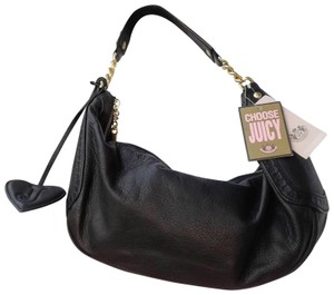 Juicy Couture Leather Pebbled Shoulder Hobo Bag