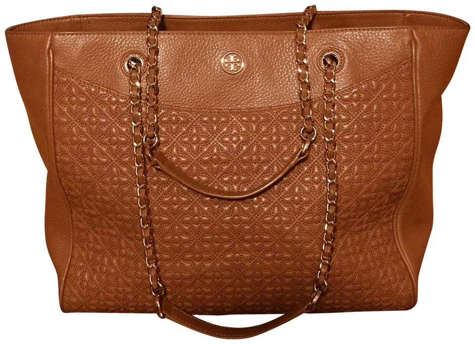 Burch 46183 Bryant Luggage Leather Style Tory Brown Tote Quilted 1tWdwF