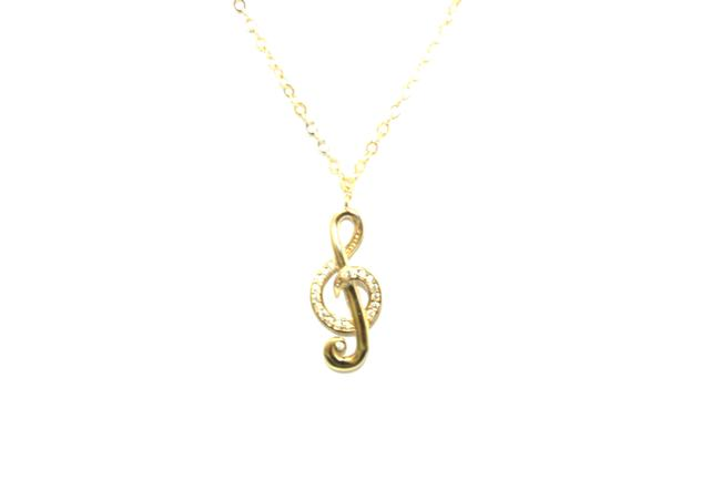 """Yellow Gold 14k Cz """"& Sign"""" Necklace Yellow Gold 14k Cz """"& Sign"""" Necklace Image 1"""