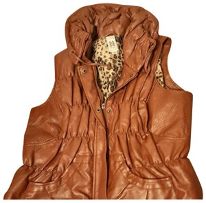Marc Bouwer Marc Bouwer faux brown leather vest