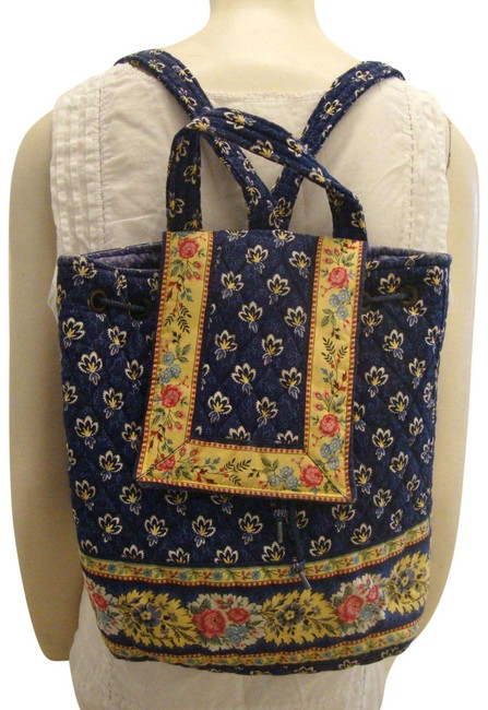 Item - Mimi Blue & Yellow Cotton Backpack
