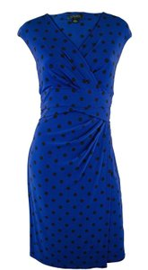 Lauren Ralph Lauren short dress Blue black Polka Dots on Tradesy
