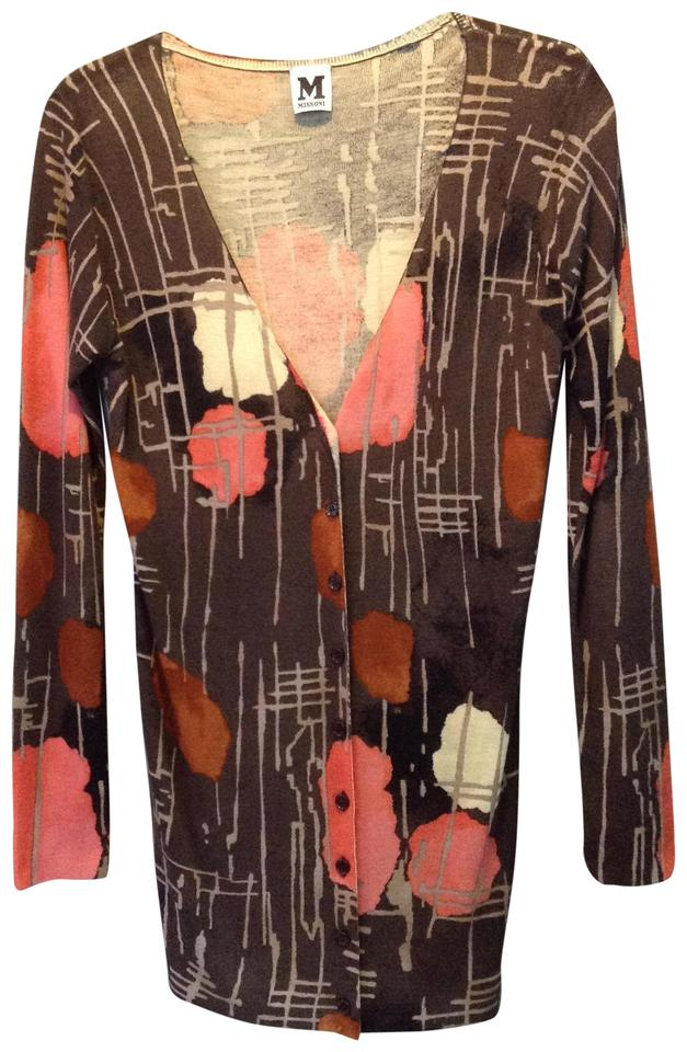 Missoni Brown Autumn Print Cardigan Size 8 (M) - Tradesy 808cb4304