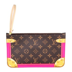 Louis Vuitton Neverfull Canvas Satchel Wristlet in Monogram with multicolor 6381