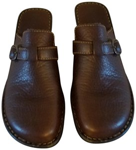 Bjorndal Brown Leather Mules