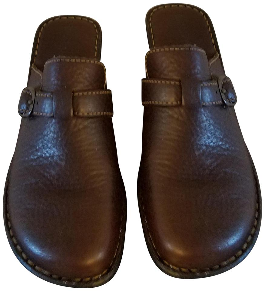 63f76afe2796a Bjorndal Brown Leather Clogs/Mules Mules/Slides Size US 10 Regular (M, B)