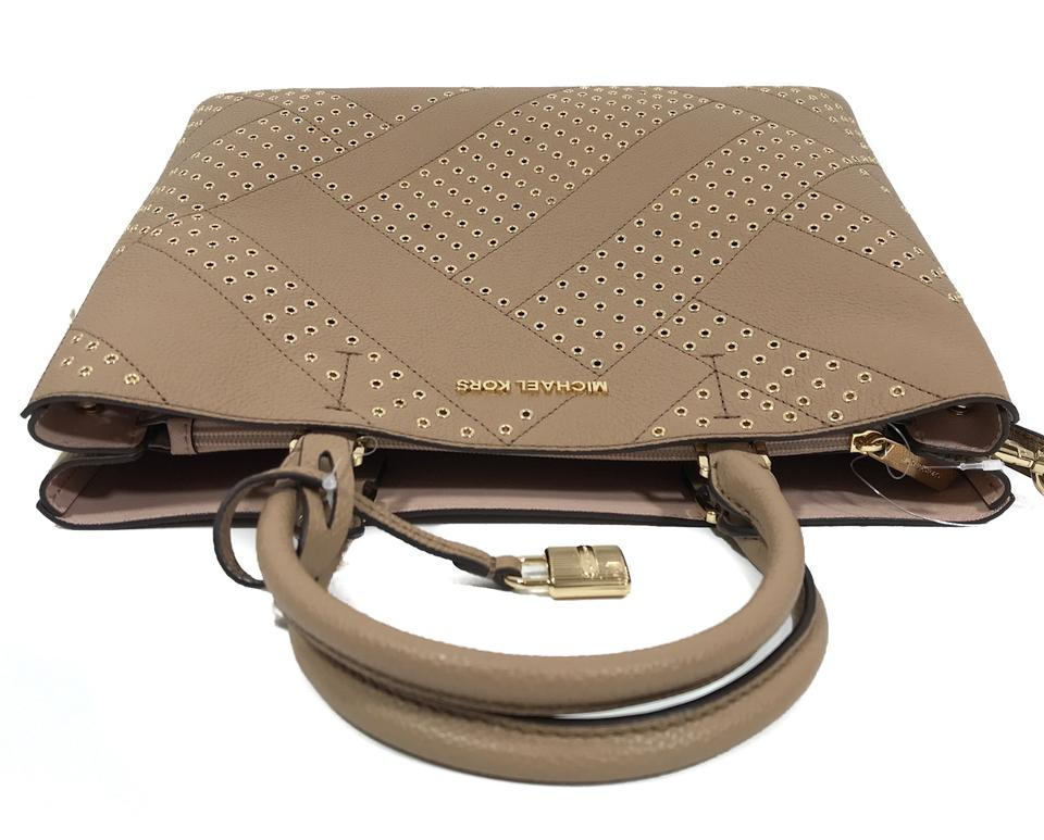 63de5ea71043 Michael Kors Bags Mk Crossbody Bags Mk Adele Tote Satchel in Brown Image  11. 123456789101112