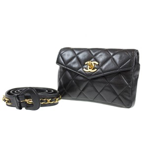 5ba617adc7c1 Chanel Leather Limited Edition Vintage Quilted European black Clutch