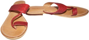 Pure Collection Flat Summer red Sandals