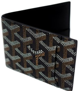 Goyard Goyard Black Classic Chevron Multi-Slot Bi-Fold Slim Leather