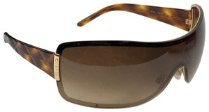 Chanel CHANEL 4126 Brown Tortoise Gold Aviator Sunglasses With Case