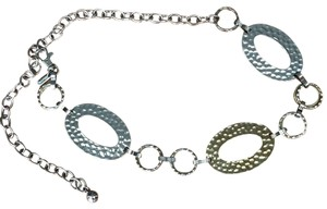 Chico's gold/silver hammered chain belt
