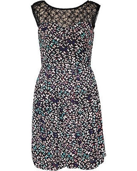 Preload https://item2.tradesy.com/images/betsey-johnson-womens-black-multi-lace-neckline-floral-lined-dress-fy02w85-10-2385481-0-0.jpg?width=400&height=650