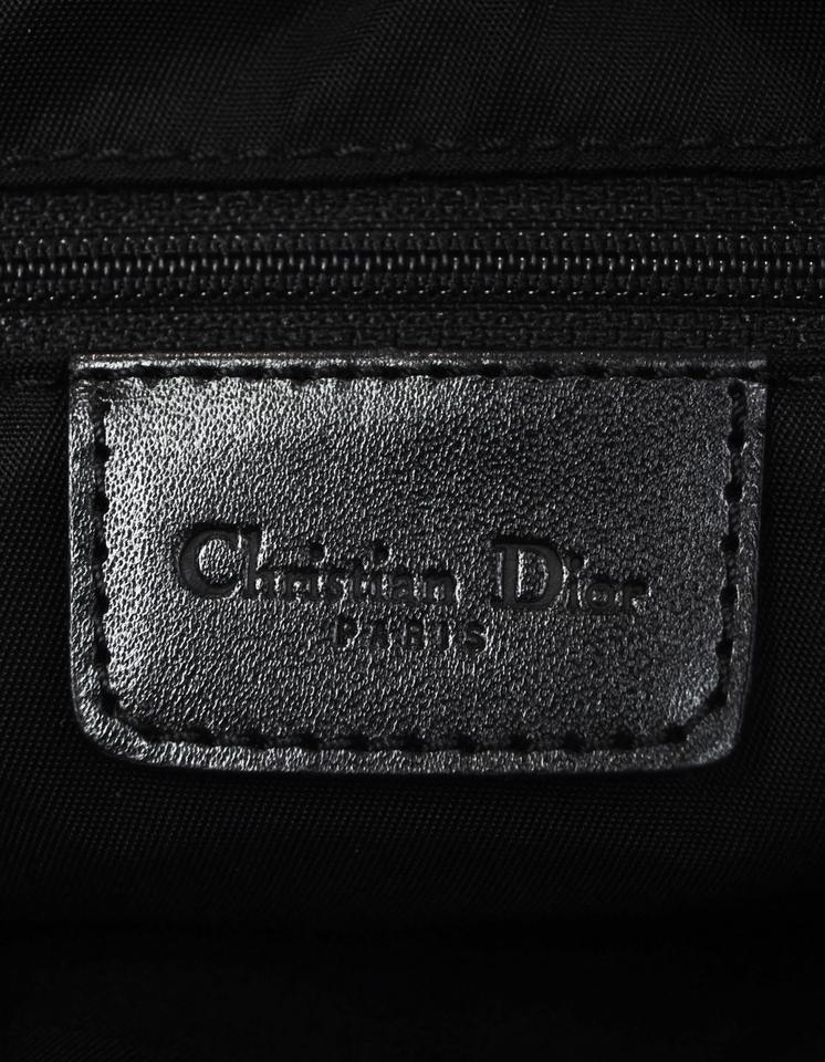 Bag Vintage Dior Canvas Saddle Shoulder Cd Diorissimo Buckle Christian Monogram Black 1nWxCqwnBA