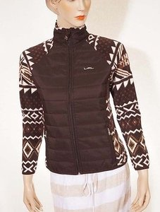 Ralph Lauren Active Petite Womens Tribal Aztec Full Zip Fleece Jacket Pm Sweater