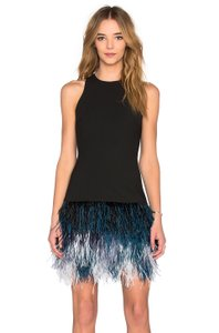 Elizabeth and James Fitted Night Out Feather Ombre Stretchy Dress