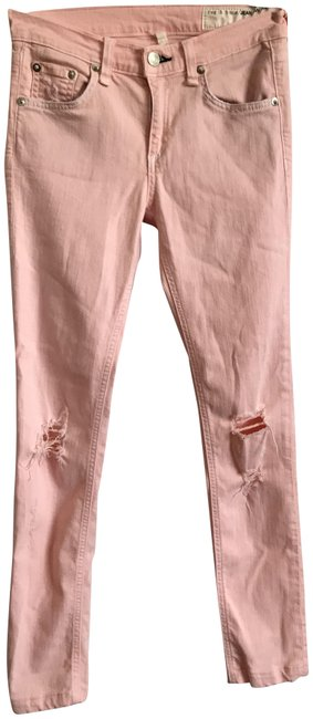 Item - Peach Light Wash Ripped Skinny Jeans Size 25 (2, XS)